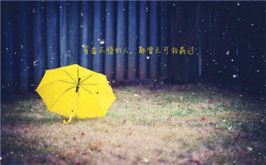 关于雨的心情经典句子精选